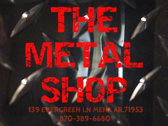 the metal shop logo . our venue / studio