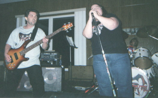 Puswart and Matt blastin out the tunes. May 28, 2005
